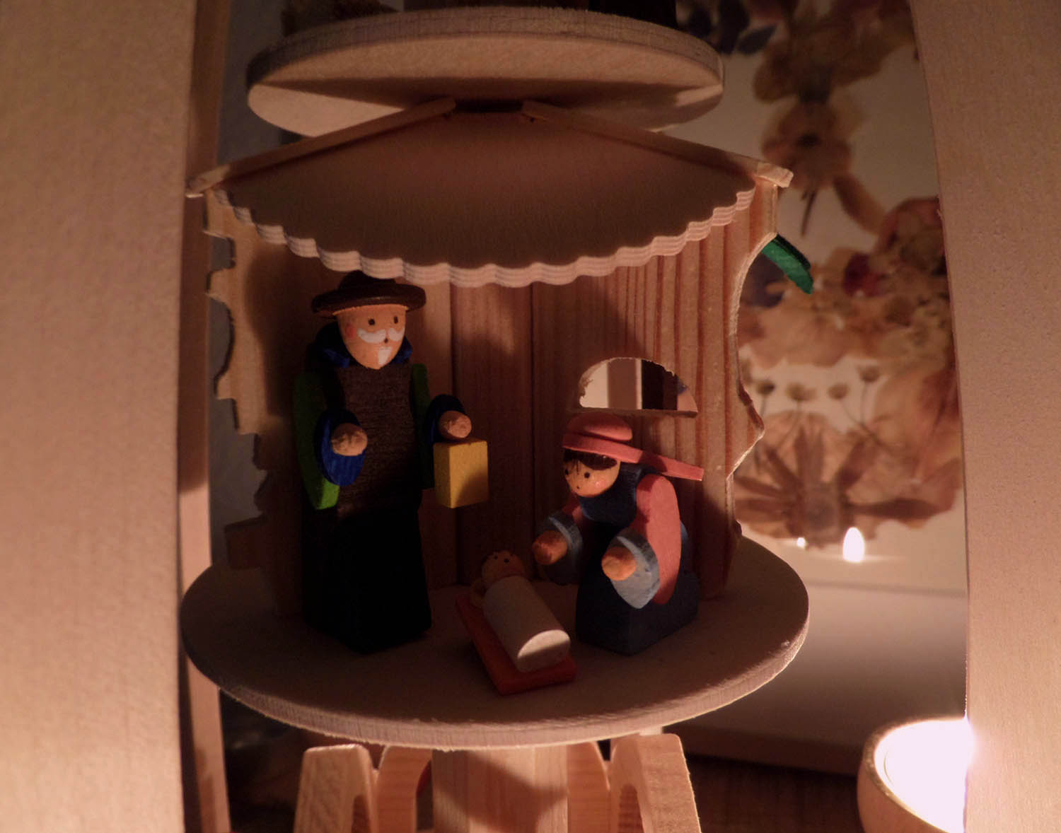"""Wooden Christmas Pyramid from the """"Erzgebirge"""", Germany"""