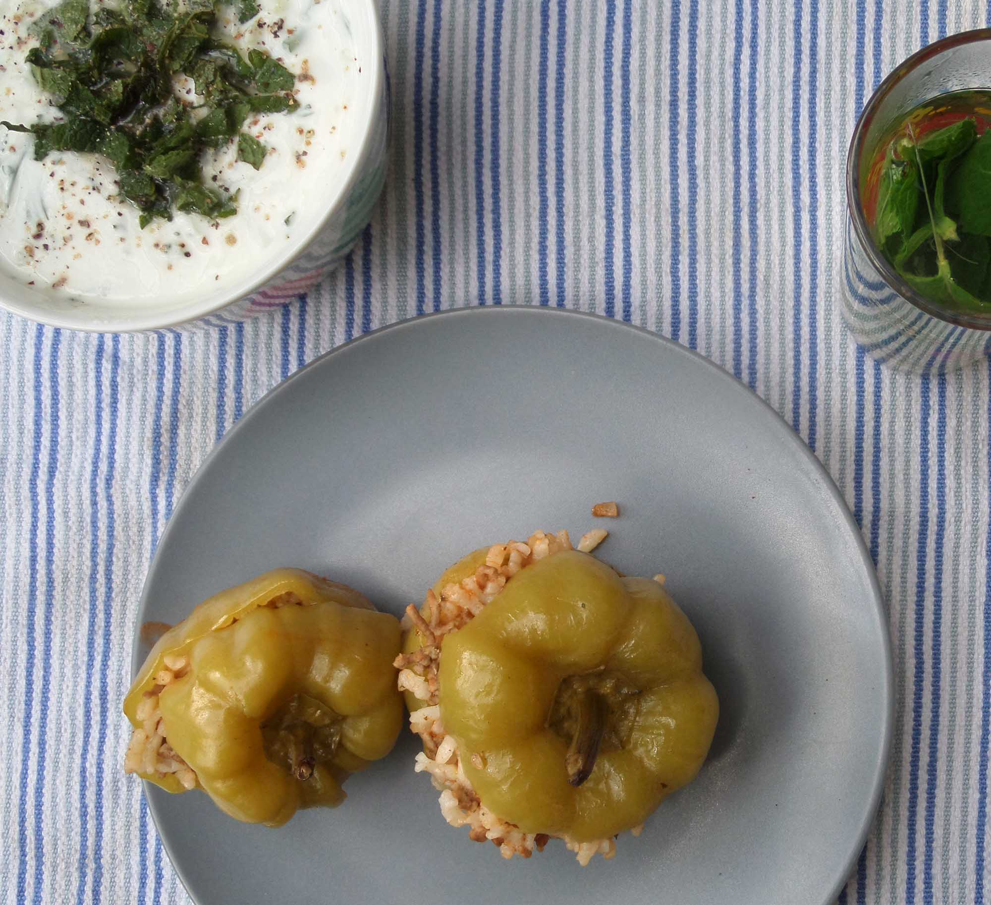 Turkish-style stuffed green peppers by Metterschling