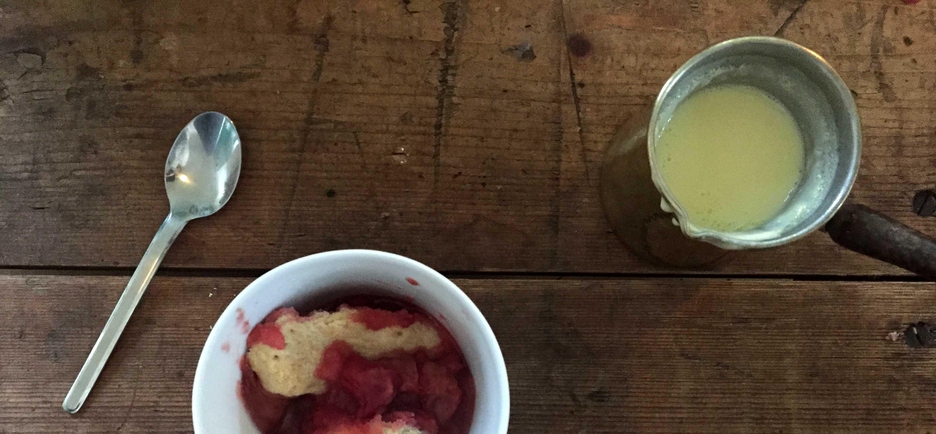 Metterschling's apple rhubarb rasberry pie